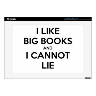 I Like Big Books and I Cannot Lie Laptop Decal