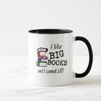 I like BIG BOOKS and I cannot LIE! Mug