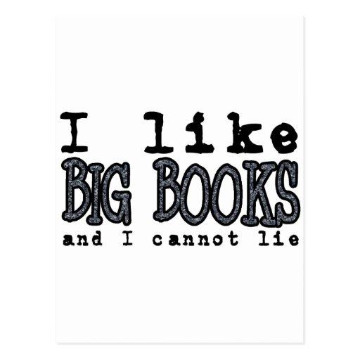 I LIKE BIG BOOKS AND I CANNOT LIE POST CARDS
