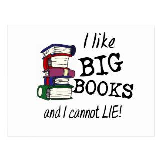 I like BIG BOOKS and I cannot LIE! Postcard