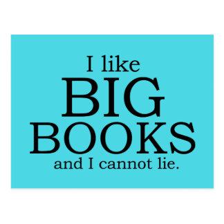 I like big books and I cannot lie Postcard
