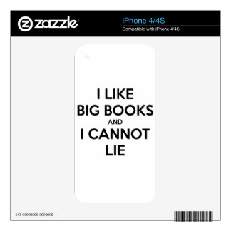 I Like Big Books and I Cannot Lie Skin For iPhone 4