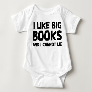 I Like Big Books Baby Bodysuit