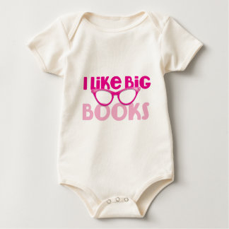 I like big books baby bodysuit