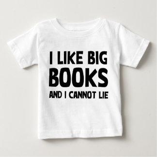 I Like Big Books Baby T-Shirt