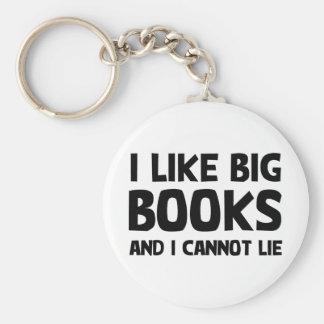 I Like Big Books Basic Round Button Keychain
