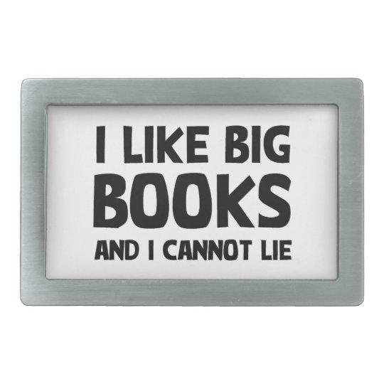 I Like Big Books Belt Buckle