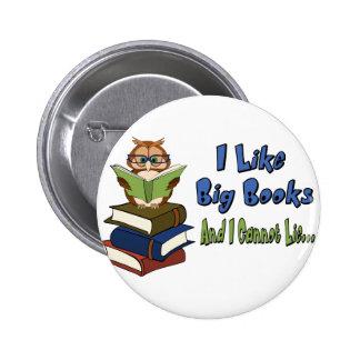 I like Big Books Pinback Buttons