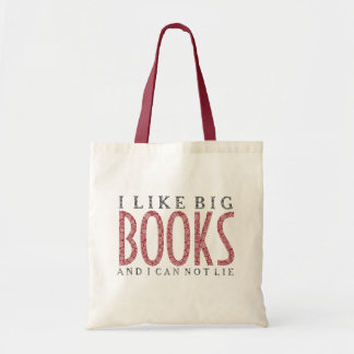 I like Big Books Dark Red Text Design Tote Bag