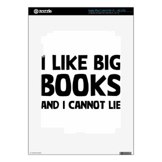 I Like Big Books Decals For iPad 3