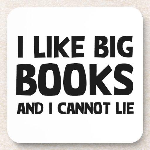 I Like Big Books Drink Coasters