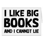 I Like Big Books Greeting Card