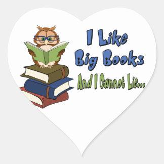 I like Big Books Heart Sticker
