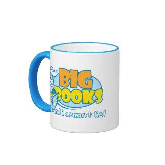 I Like Big Books Ringer Coffee Mug
