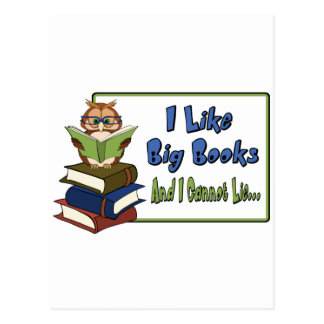 I like Big Books Postcard