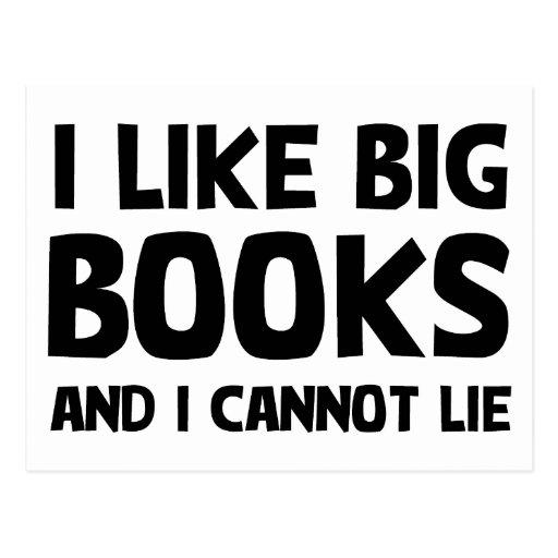 I Like Big Books Postcards
