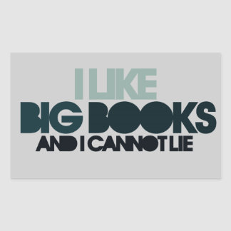I Like Big Books Rectangular Sticker