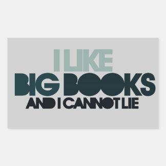 I Like Big Books Rectangle Stickers