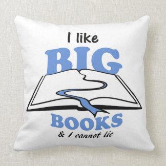 I like Big Books Throw Pillow