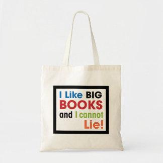 I like big books ... tote bag