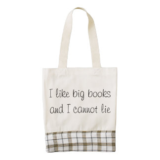 I like big books zazzle HEART tote bag