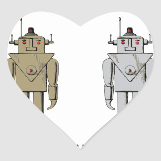 I Like Big Bots Heart Sticker