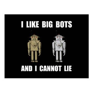 I Like Big Bots Postcard