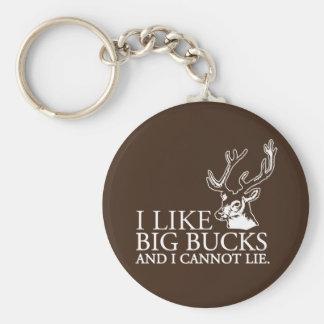 I like big bucks and i cannot lie funny tshirt basic round button keychain