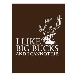 I like big bucks and i cannot lie funny tshirt postcard