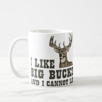 I Like Big Bucks And I Cannot Lie Classic White Coffee Mug