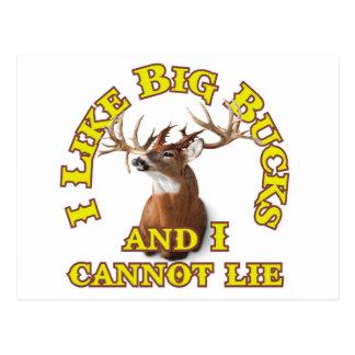 I Like Big Bucks and I Cannot Lie Postcard