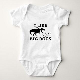I Like Big Dogs Baby Bodysuit