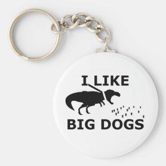I Like Big Dogs Keychain