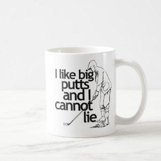 I like big putts and I cannot lie Classic White Coffee Mug