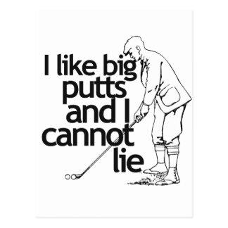 I like big putts and I cannot lie Postcard