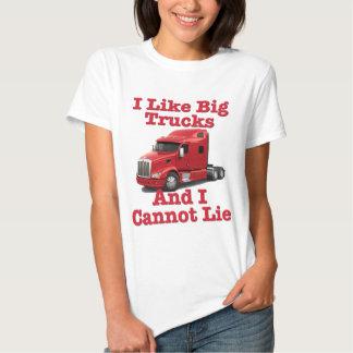 I Like Big Trucks And I Cannot Lie Peterbilt Tee Shirt