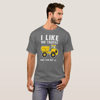 I like big trucks and I cannot lie pop humor T-Shirt