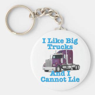 I Like Big Trucks And I Cannot Lie Western Star Basic Round Button Keychain