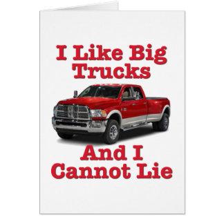 I Like Big Trucks .... Dodge Card