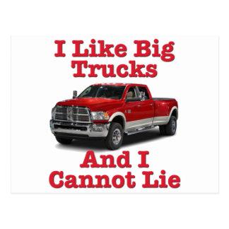 I Like Big Trucks .... Dodge Postcard