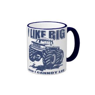 I Like Big Trucks Ringer Coffee Mug