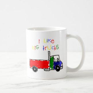 I Like Big Trucks Classic White Coffee Mug