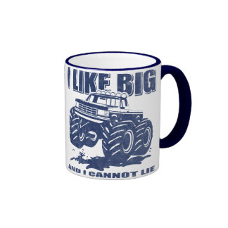 I Like Big Trucks Ringer Mug