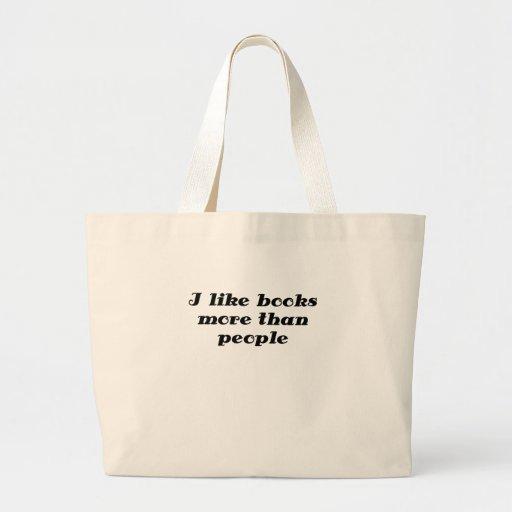 I like books more than people tote bag