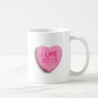 I Like Boys Classic White Coffee Mug