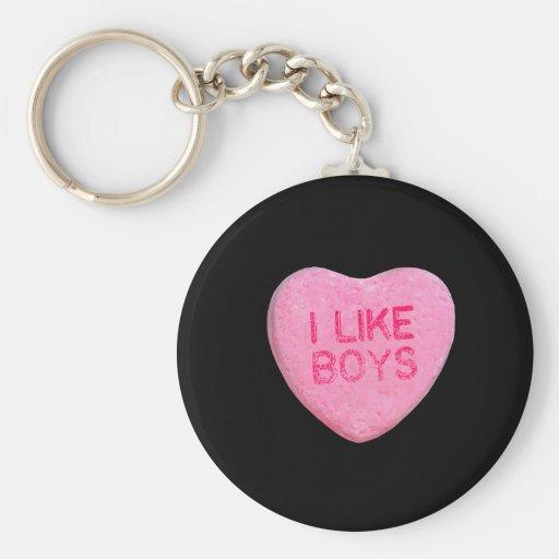 I Like Boys Keychains