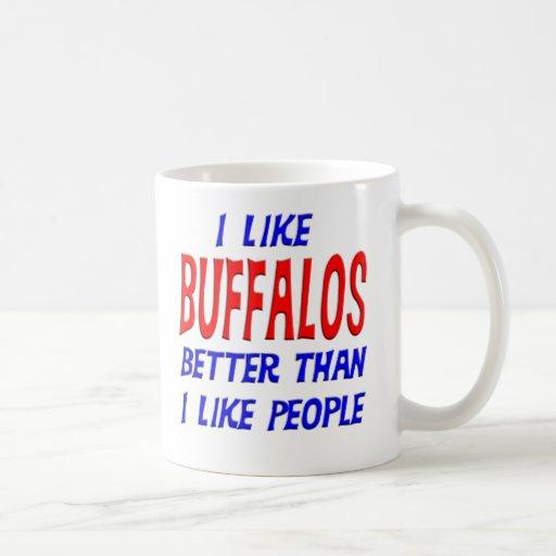 I Like Buffalos Better Than I Like People Mug