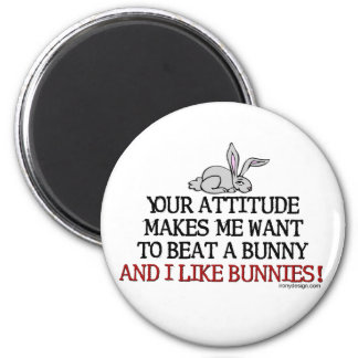 I Like Bunnies 2 Inch Round Magnet