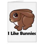 I Like Bunnies Greeting Card