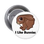 I Like Bunnies Pins